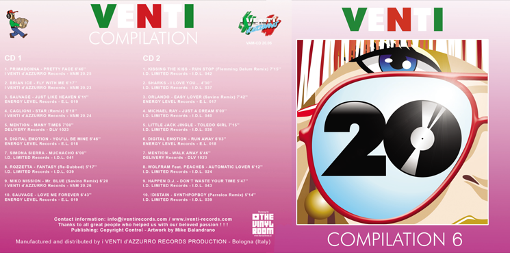 VAM-CD 20.06 VARIOUS ARTISTS - VENTI COMPILATION 6 (Double CD)